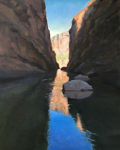 Santa Elena Canyon in Big Bend with reflections on the water